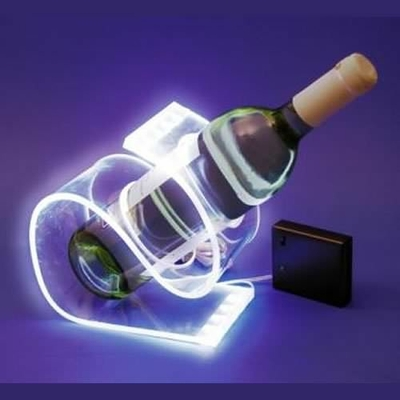 Support bouteille lumineux leds blanches