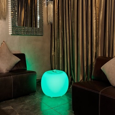 Pouf led bubble rvb