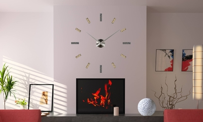 horloge murale personnalis e. Black Bedroom Furniture Sets. Home Design Ideas