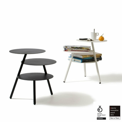 Table basse d 39 appoint trio blanc for Table d appoint fly
