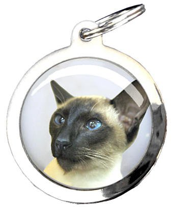 Médaille figurine chat siamois