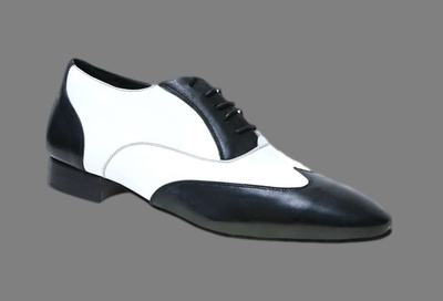 Chaussures de danse homme en cuir Mambo Made in Italy.