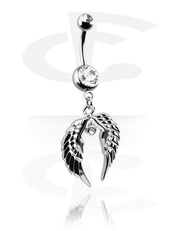 Piercing nombril fashion banana double strass cristal