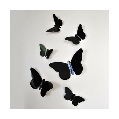 Stickers relief papillons noirs