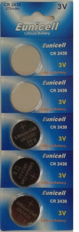 Eunicell 5 piles boutons plates cr2430 cr 2430 - 3v lithum